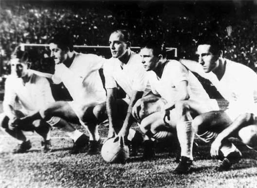 Delantera del Real Madrid Años50