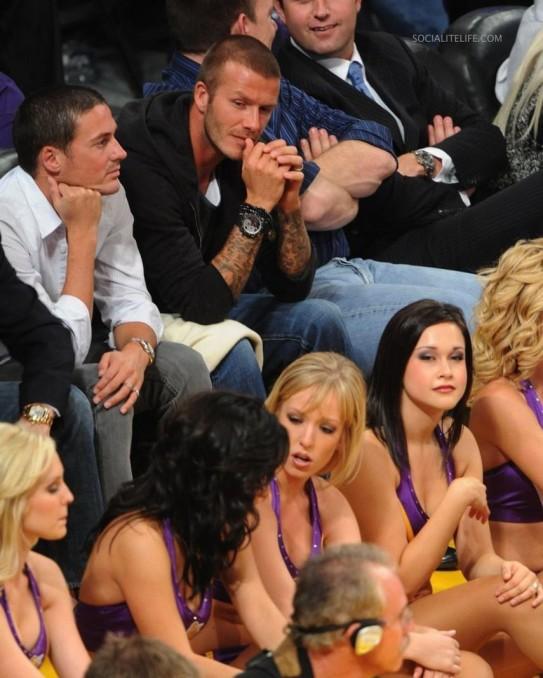 Beckham lakers game cheerleader photo